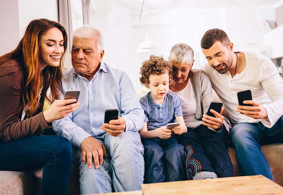 planos de celular para a família