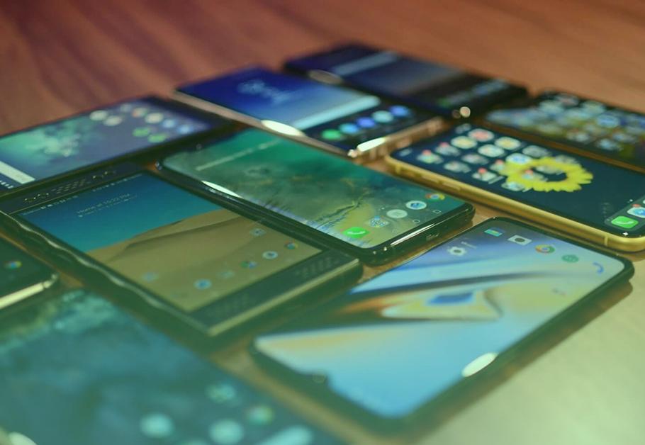 celulares com a tela grande em 2019