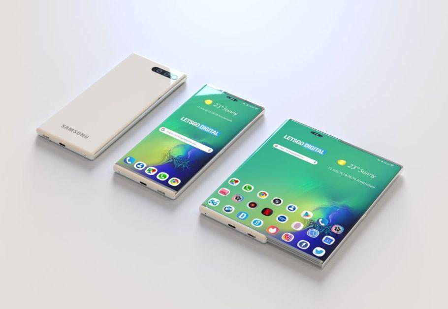 celular com tela extensível